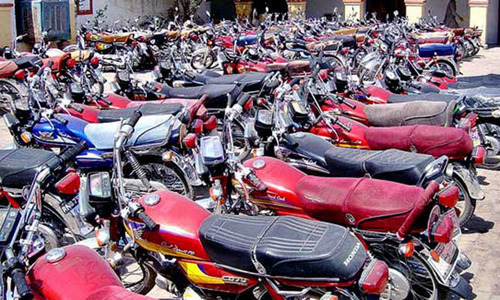 Honda bikes selling on black market in Karachi