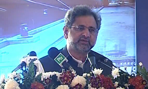 PM Abbasi inaugurates first 'dirty cargo' terminal, says democracy necessary for development