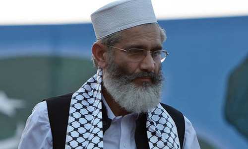 Campaigning for NA-4 seat, JI chief extols Mumtaz Qadri's 'heroism'