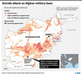 Afghan militants storm army base, kill 43 troops