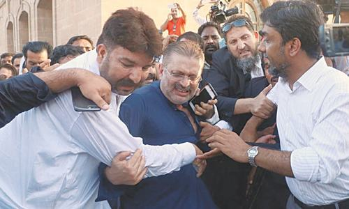 Hide-and-seek before Sharjeel held for graft