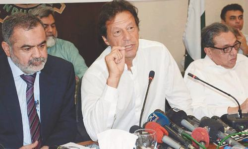 Imran demands inquiry into Uzair's charges against Zardari, Faryal