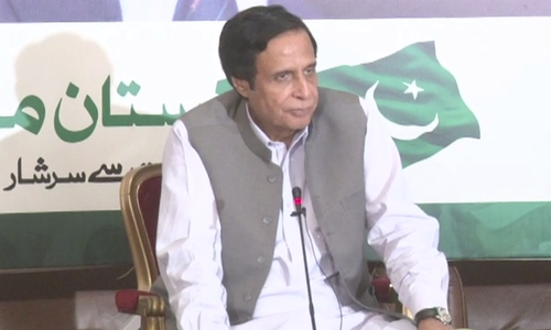 Shujaat, Pervaiz Elahi appear before NAB to record statements in corruption reference
