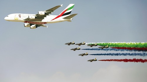 Air show kicks off in Dubai without Qatar Airways