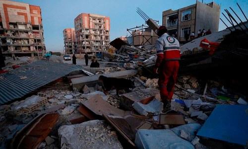 ایران-عراق سرحد پر زلزلے کے بعد کے خوفناک مناظر