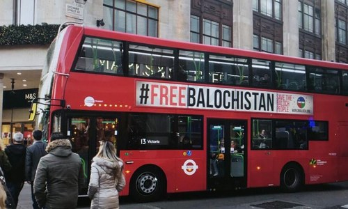 'Free Balochistan' messages removed from London buses