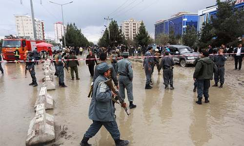 Blast near political gathering in Kabul leaves 14 dead