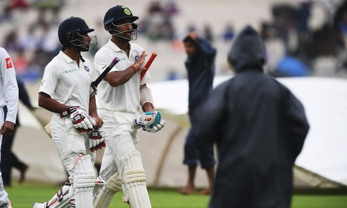 Rain washes out second day with India at 74-5 against Sri Lanka