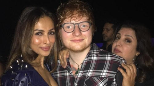 Ed Sheeran parties it up with Bollywood before his big Mumbai concert today