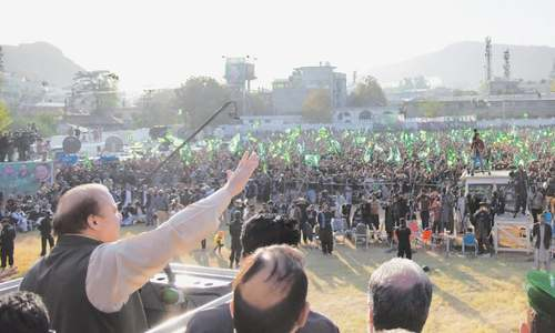 Sharif strikes defiant note in Abbottabad