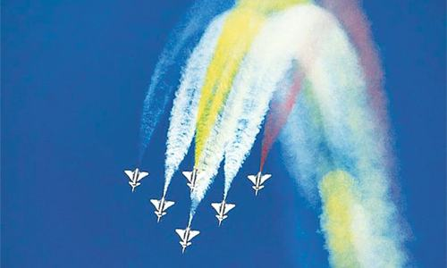 Stunning aerobatics display in Quetta by air forces of Pakistan, China