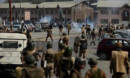 3 suspected militants, Indian commando killed during gun fights in held Kashmir gun