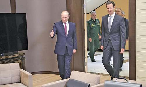 Putin hosts Assad in fresh push for Syria peace deal