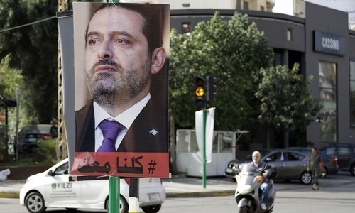Lebanon's PM Hariri says resignation on hold pending talks