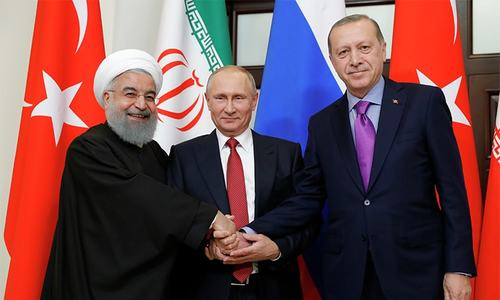 Russia, Iran, Turkey to work for political settlement in Syria