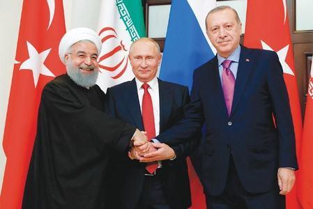 روس، ترکی اور ایران شام کے سیاسی حل کے لیے متحد