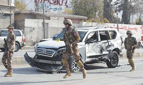 Suicide attack on FC convoy kills five in Quetta