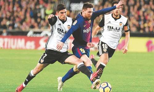 Barca salvage draw at Valencia after Messi ghost goal controversy