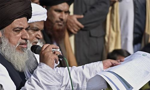 Only 'negotiated' with army officials, not govt representatives: TLY chief Khadim Rizvi