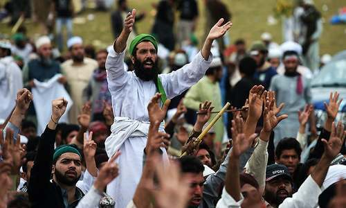 How dharna politics threaten system stability in Pakistan