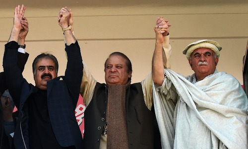 'Disqualified me for not receiving salary when minus-one didn't work': Nawaz addresses rally in Quetta