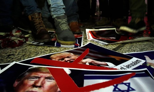 In pictures: Outpour of anger in Palestine as Trump recognises Jerusalem as Israeli capital