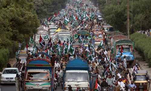 Religious groups hold pro-Palestinian protests in Karachi, burn US flags