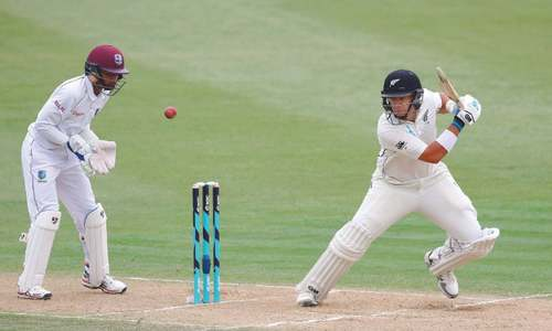 West Indies in trouble after Taylor equals NZ record