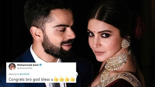Pakistani cricketers congratulate Virat and Anushka on their wedding