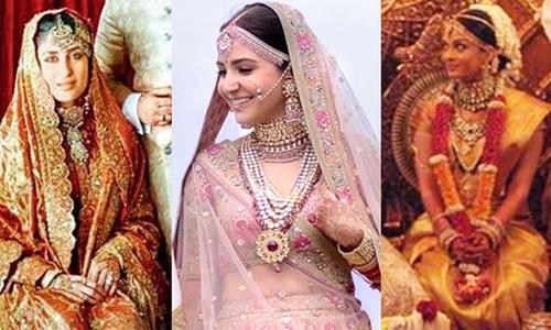 اداکاراؤں کے اپنی شادی پر خوبصورت اور یادگار روپ