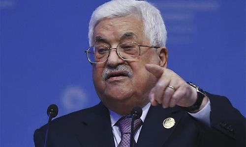 'We got the slap of our times': Palestinian president rejects US as peace broker
