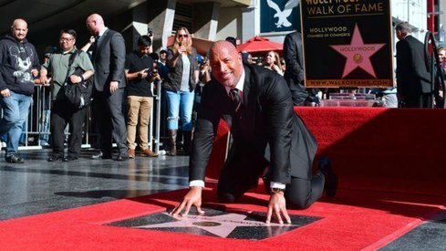 Dwayne 'The Rock' Johnson receives star on Hollywood Walk of Fame