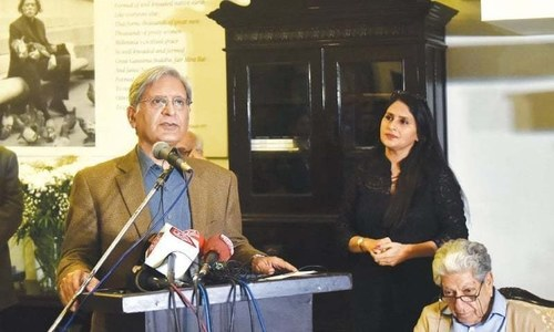 Art teaches us plurality and diversity, says Aitzaz Ahsan at Jamil Naqsh's museum launch