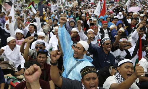 Indonesia protesters want boycott of US products over Jerusalem