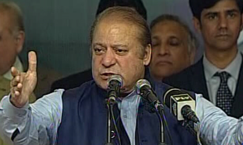 Musharraf treason case behind disqualification, says Sharif