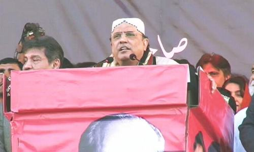 'You cannot threaten us or force us away,' Zardari warns Nawaz