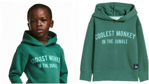 "H&M apologises for racist ad featuring a black child in ""monkey"" hoodie"