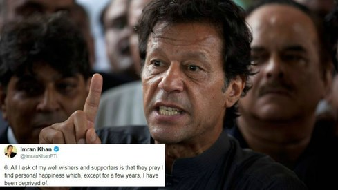 Twitter turns savage as Imran Khan breaks silence on third marriage