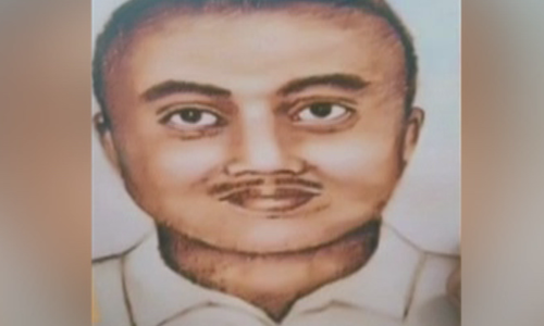A sketch of the suspect issued by the police. ─ DawnNews