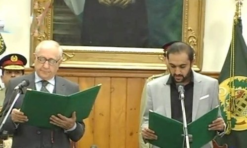 Abdul Quddus Bizenjo sworn in as new chief minister of Balochistan