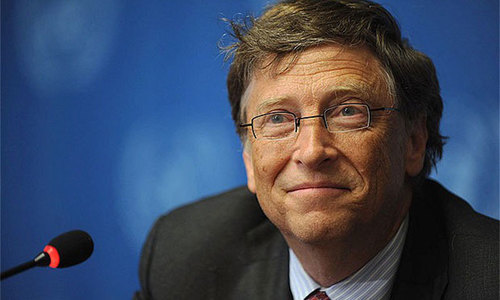 Bill Gates announces aid bump for Pakistan