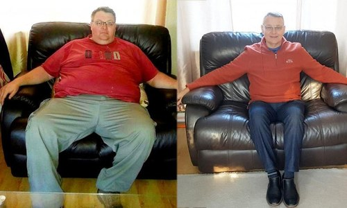 وہ شخص جس نے 95 کلو تک وزن کم کیا