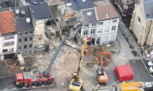 Two killed as blast destroys buildings in Belgium