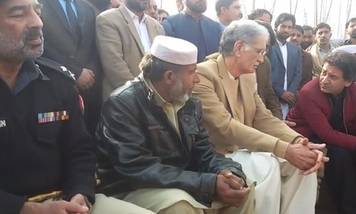 KP CM Khattak visits family of girl allegedly raped, murdered in Mardan