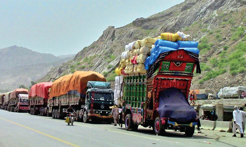 Trucks loaded with food items denied clearance at Torkham