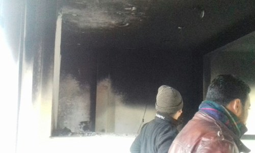 Chemistry lab in Punjab University set on fire during students clash