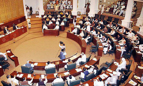 Commotion in Peshawar Assembly over Imran's diatribe against parliament