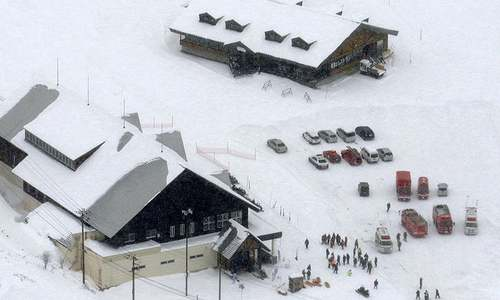 Volcanic eruption near Japanese resort triggers avalanche; one killed, several injured