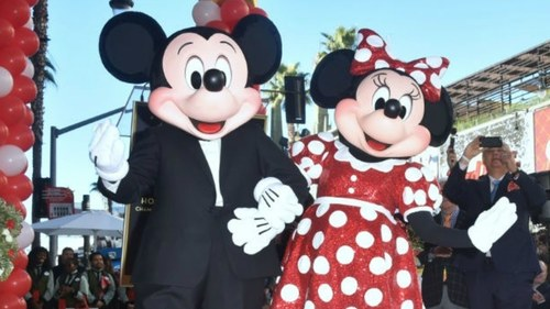 Minnie Mouse gets her star on Hollywood Walk of Fame, a few decades after Mickey