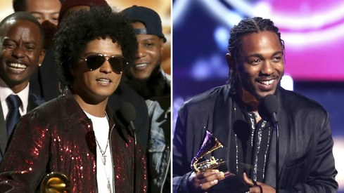 Bruno Mars and Kendrick Lamar win big at the Grammys 2018